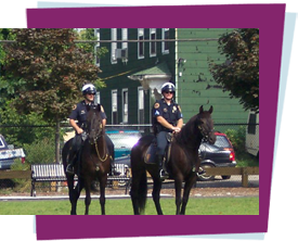 Police Officers on horses